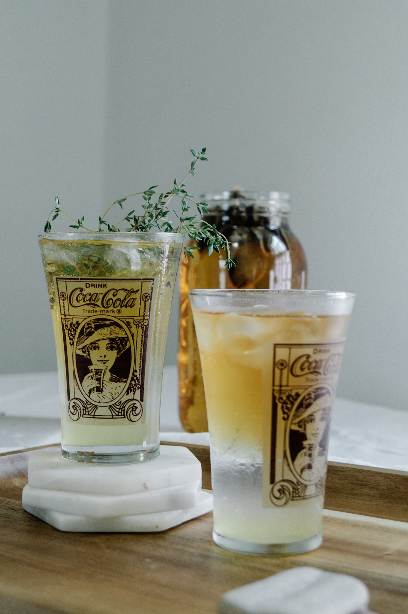 I love  sparkling summer iced tea mocktails because they are refreshing and bottomless but still bring the oh's and ah's of a real cocktail.