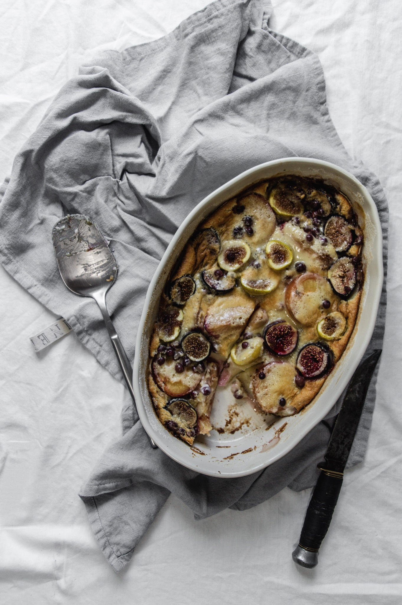 French clafoutis gets a late summer twist with plums and figs.