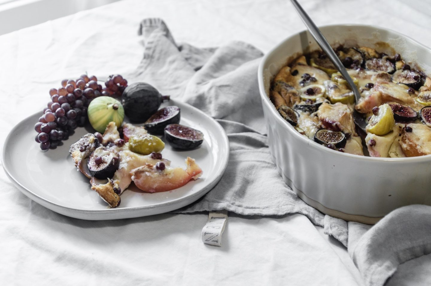 Late summer fruit clafoutis