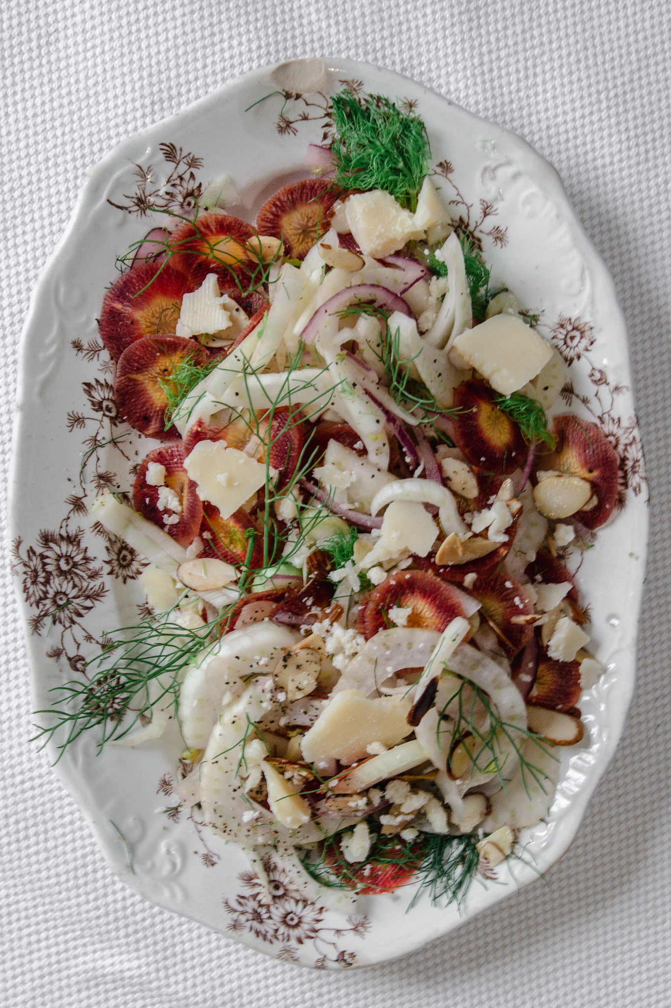 fennel and carrot side salad for Easter parties.